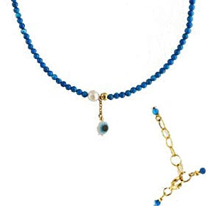 Amazon com : Turquoise Greek Necklace with Mother of Pearl