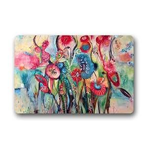 Custom Doormat Abstract Painting Flower Nature Machine Washable Rug Non Slip Mats Indoor/Outdoor/Bathroom/Decor Area Rug(23.6x15.7 inch)