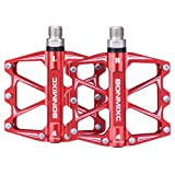 BONMIXC Mountain Bike Pedals 9/16' Cycling Four Pcs Sealed Bearing Bicycle Pedals