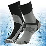 Hiking Skiing Socks, RANDY SUN Unisex Antibacterial Water Resistant Lightweight Sports Socks Black S