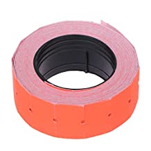 LANDUM 500 Pieces/roll Colorful Price Label Paper Tag Mark Sticker for MX-5500 Labeller Gun Red