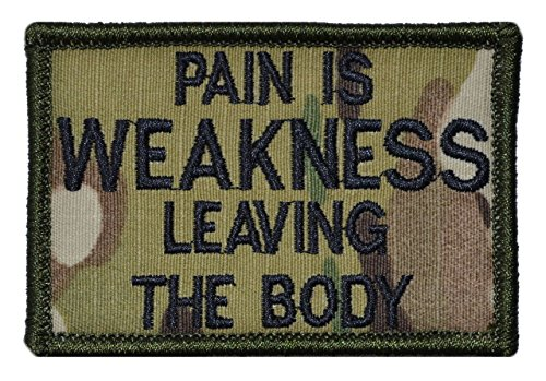Pain is Weakness Leaving the Body 2x3 Military Patch / Moral