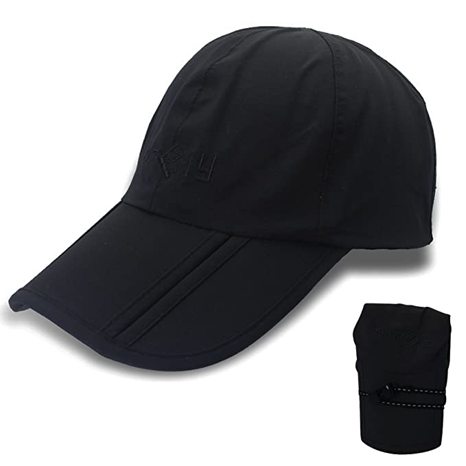 3976c74b Gracelife Waterproof Baseball Cap Foldable Sun Hat Unisex Man Woman Peaked Outdoor  Quick-Drying Collapsible