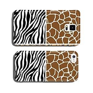 Animal Set - Giraffe, Leopard, Tiger, Zebra Seamless Pattern cell phone cover case iPhone5