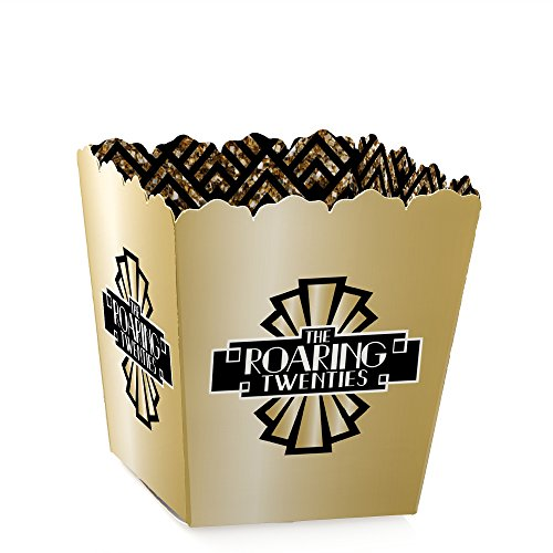 Roaring 20's - Party Mini Favor Boxes - 1920s Art Deco Jazz Party Treat Candy Boxes - Set of 12]()