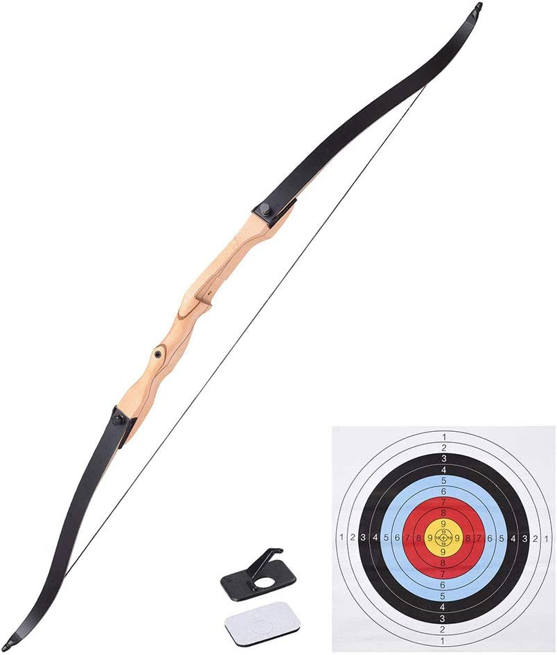 AW 65 Recurve Bow Right Hand Draw Weight 30lbs Traditional Archery Hunting Take Down Long Bow Outdoor