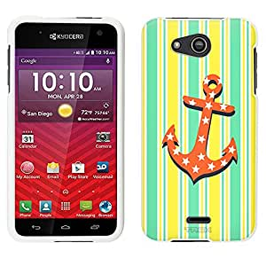 Kyocera Hydro Wave Case, Snap On Cover by Trek Anchor on Yellow Stripes Case