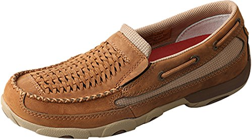 Twisted X Women's Slip On Driving Mocs Moc Toe Lt Brown 8.5 M