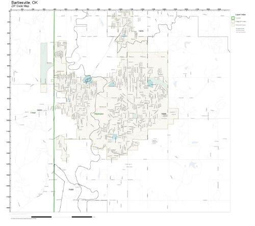 Amazon.com: ZIP Code Wall Map of Bartlesville, OK ZIP Code Map Not