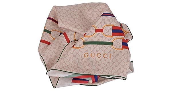Gucci mujer seda horsebit Web Cinturones GG Guccissima Twill cuello bufanda: Amazon.es: Ropa y accesorios
