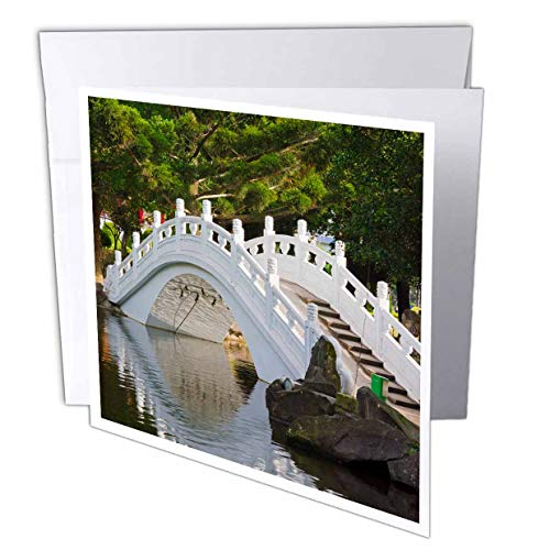 3dRose Danita Delimont - Taiwan - Bridge in Liberty Square, AKA Freedom Square, Garden, Taipei, Taiwan - 12 Greeting Cards with envelopes (gc_312810_2) (Best Architecture In Taipei)