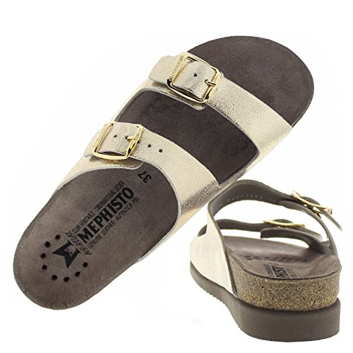 Mephisto Womens Harmony Leather Sandals dorado