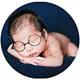 Baby Photography Props Newborn Boy Photo Shoot Outfits Infant Gentleman Glasses (Black Glasses)