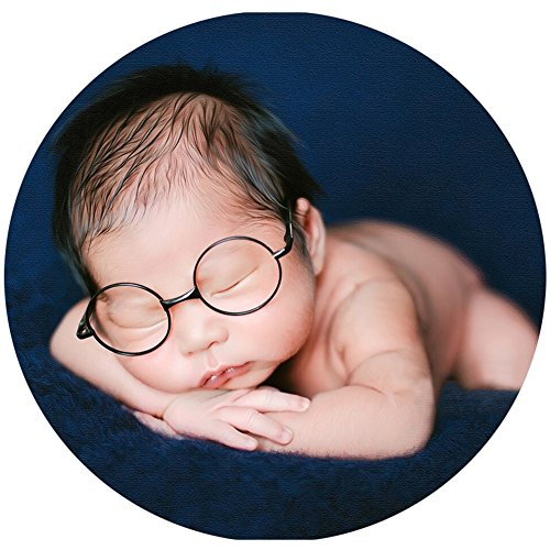 Baby Photography Props Newborn Boy Photo Shoot Outfits Infant Gentleman Glasses (Black Glasses) by Zeroest