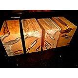 "Ambrosia Maple Kiln Dried Lathe Exotic Wood Lumber Bowl Blanks Blocks, 6"" X 6"" X 3'', Set of 4"