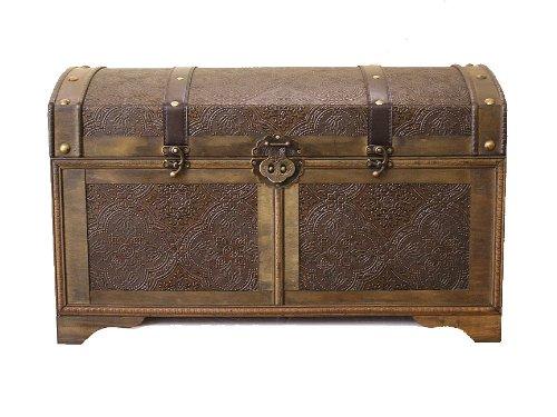 Styled Shopping Nostalgic Large Wood Storage Trunk Wooden Treasure Chest