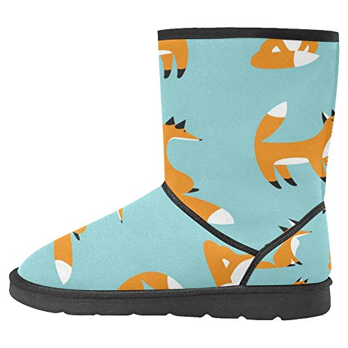 Snow Multi Comfort InterestPrint Cute Boots Boots Designed Unique Yellow 1 Womens Foxes Winter gXqqxP54w