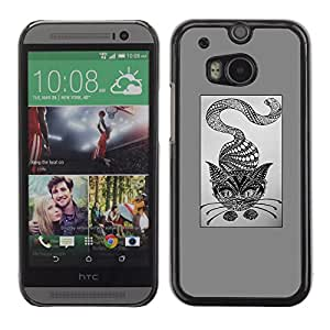 iKiki Tech / Hard Case Cover - Abstract Pencil Drawing Art - HTC One M8