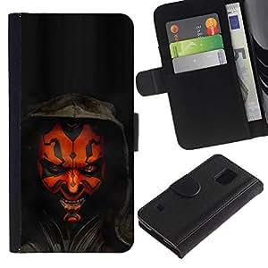 NEECELL GIFT forCITY // Billetera de cuero Caso Cubierta de protección Carcasa / Leather Wallet Case for Samsung Galaxy S5 V SM-G900 // Darth Mutilar