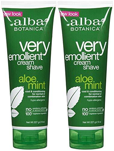 Alba Botanica Moisturizing Cream Shave, Aloe Mint - 8 oz - 2 pk