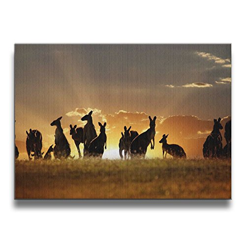Shannon BrownriceS Kangaroo Wallpaper Art Frameless Decor Canvas Wall Art Painting For Home,Living Room,Bedroom,office Modern Decoration 1620 (Kangaroos Canvas)