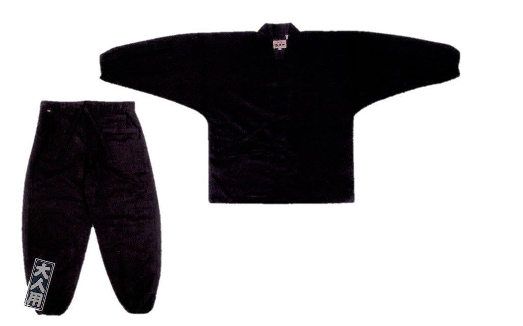作務衣 【江戸一】 武州本藍染青縞 長く着られる本格作り 薄地 夏向 大人:大 大人:大薄地 夏向 B002WKU3I0