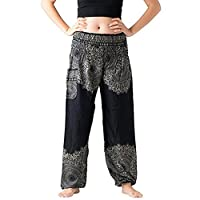 Women Large Size Solid Color Loose Yoga Trousers Lantern Wide Leg Pants Pajama