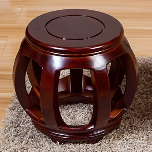 DGF Solid Wood Stools, Antique Round Coffee Table And Stool / Changing His Shoes Stool (W25 H30cm) ( Color : B ) by Great St.