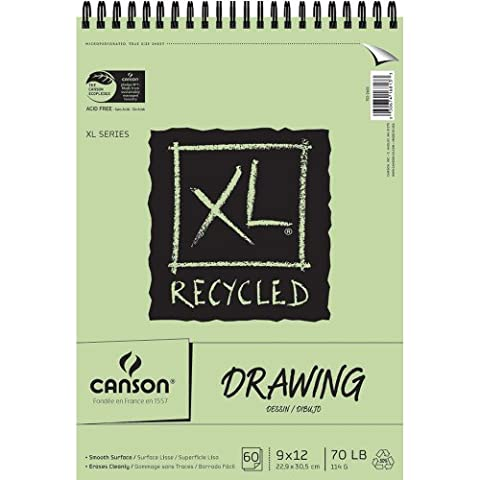 Pro-Art 9-Inch by 12-Inch Canson Recycled Drawing Paper Pad, 60-Sheet, X-Large - Recycled Paper Pads