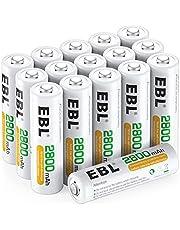 EBL AA oplaadbare batterijen 2800 mAh 16 stuks (type Ni-MH, geringe zelfontlading, voorgeladen) - batterijen AA oplaadbaar