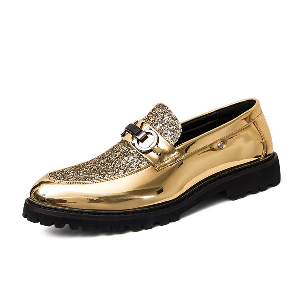 a7e767af97c Men s Business Oxford Classic Soft Soft Soft Outsole With Sleek Sequined  Vamp Slip On Shoes (Color   Gold