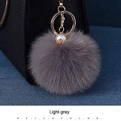 Key Chains - Pom Pom Ball Keychain for Women Bag Purse Car Styling Key Ring  Chains bd51d990a5