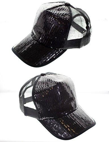 Sparkle Bling Party Glitter Dance Sequin Women Girl Cap Hat Baseball Trucker (Dance Costume Designer Online)
