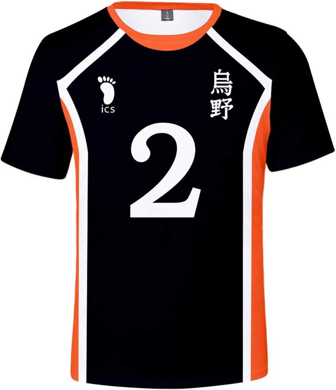 Bilicos Haikyuu Sugawara Koushi Club - Camiseta de manga corta, color negro, color Negro , tamaño xxx-large: Amazon.es: Juguetes y juegos