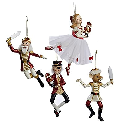 POLYRESIN NUTCRACKER SUITE ORNAMENT, SET OF 4 ASSORTED - Christmas Ornament