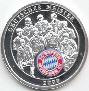 Generic Medaille Fc Bayern München 2000 Polierte Platte 2000