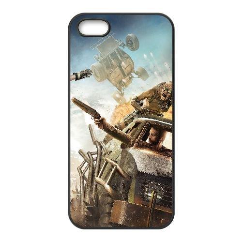 M8O24 Mad Max U4M2XJ coque iPhone 5 5s cellulaire cas de téléphone couvercle de coque noire DC1FOG9HC