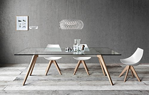 Cheap Delta + Gamma: Modern Dining Room Table + Six-chair Set