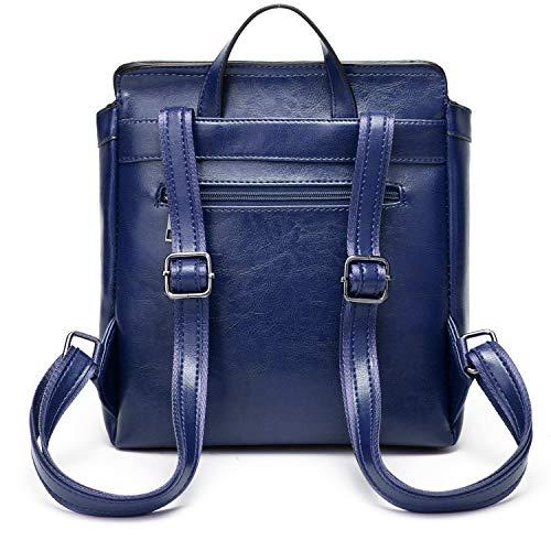 Women Backpack Lightweight Ladies Bag Bag School Shoulder Leather Blue Purse ACLULION Girls PU for aaqrFd