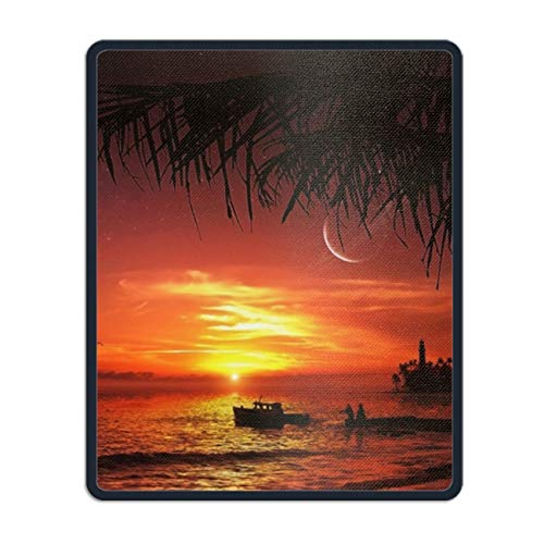 Non-Slip Rubber Mousepad,Tropical Beach Gaming Mouse Pad -