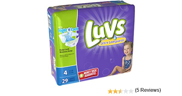 Amazon.com: Luvs with Ultra Leakguards, Size 4 Diapers, 29 ea ...