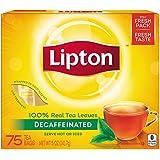 Lipton Black Tea Bags, Decaffeinated 75 ct (Pack of 2)
