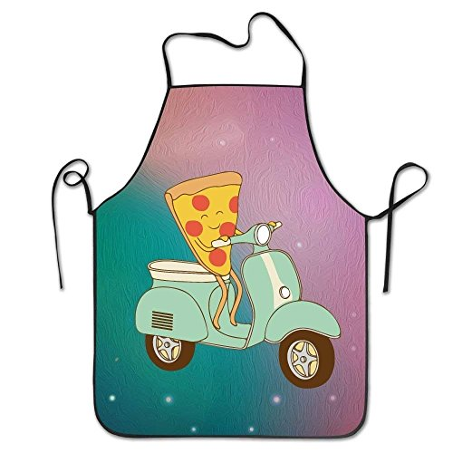 crystars Best Gift Pizza Delivery Unisex Cooking Kitchen Aprons Chef Apron Bib -