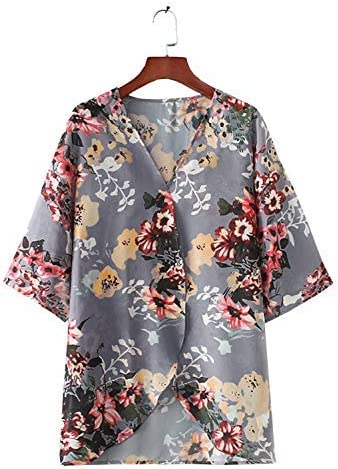 Women Floral Kimono Cardigan Chiffon Casual Tops