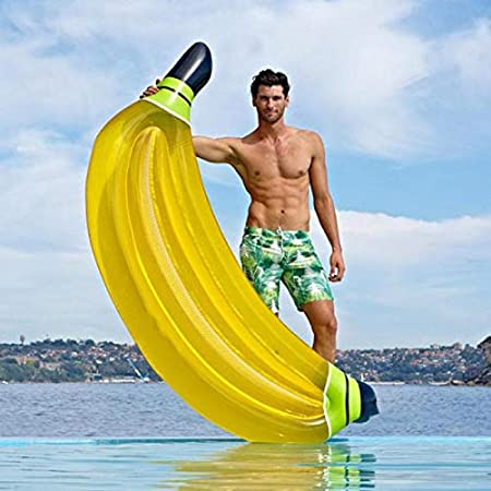 Hinchable Colchonetas Plátano Gigante Flotador Inflable ...