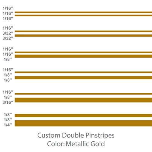 Double Pinstripe - 1060 Graphics Double Vinyl Pinstripes/Pinstriping (Metallic Gold) 1/16