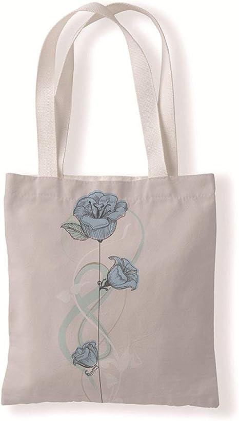 Beautiful Brain Tote Bag print accessories roses gray floral travel bag retro brain book bag book bag anatomical illustration