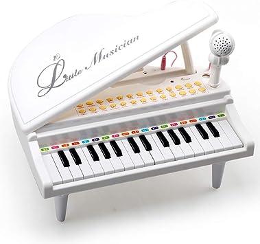 Amy&Benton Piano para Bebés, Pequeños, Regalo de cumpleaños para niñas de 3 4 5 años (Blanco, 31 Llaves)…