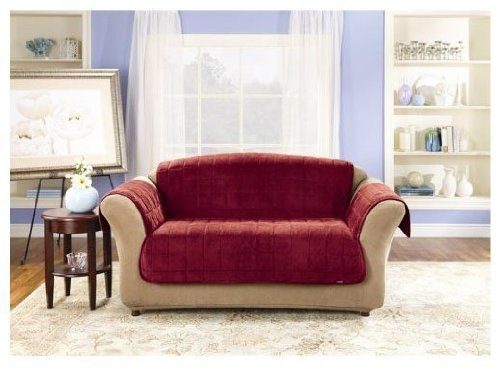 Sure Fit Deluxe Loveseat Pet Throw, Burgundy by Surefit Inc.
