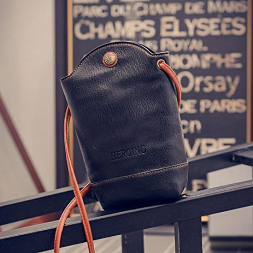 Slim for Women Shoulder Bags Black Small Bags Leather CieKen Cover PU Crossbody Body Vintage Satchel 8ZwUp